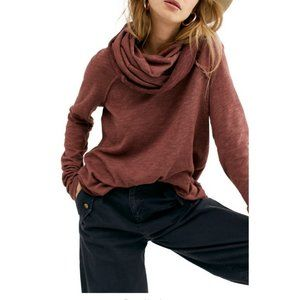 Free People $68 Cowl Neck Cocoon Pullover